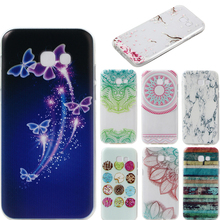 Case For samsung a520 Painted pattern Thin Soft Flexible Gel TPU Transparent Skin Relief Bumper for samsung galaxy a5 2017 case(China)