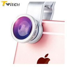 3 In 1 Mobile Phone Macro Fish Eye Lens Universal Wide Camera Lenses fisheye for iPhone 5 5S 5C 6 6s Plus 7 Plus All size Phone