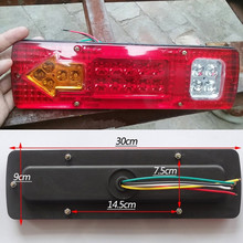 1 Piece 19 Led Caravan Truck Tail Light 30*9 CM 12V 24V Car Led Taillight Left Right Trailer Truck Tail Light Van Lamp(China)