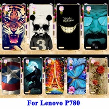 Soft TPU Hard PC Mobile Phone Skin Case Cover For Lenovo P780 P 780 Housing Covers Captain American Shield Cases Skin Shell Hood
