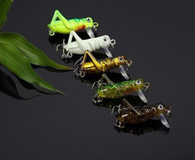 5Pcs Grasshopper noctilucous insects Fish Lures 4cm 3.1g Top Water Fishing Bait Flying Jig Wobbler Artificial hard lure