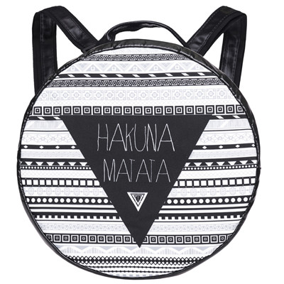 Letter hakuna 3D Printing PU round backpack 2017 Fashion mini backpack leather women designer backpacks high quality mochilas<br><br>Aliexpress