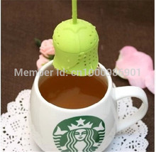 Wholesale - 1000pcs/lot Cute Creative Silicone Rose Design Tea Leaf Strainer Herbal Spice Infuser Tea Filter - Color Assorted