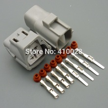 5/30/100sets 2.2mm  4pin male female universal 4 way oxygen sensor plug  2JZ A/C 4P Connector case for Toyota