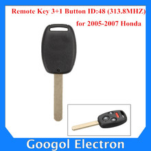 2005-2007 For Honda Remote Key 3+1 Button and Chip Separate ID:48 (313.8MHZ) Free Shipping