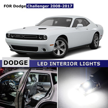 9pcs Car Interior Map Dome Trunk Glove Box License Plate Lights Bonus Spare Cargo Area LED Bulbs For Dodge Challenger 2008-2017