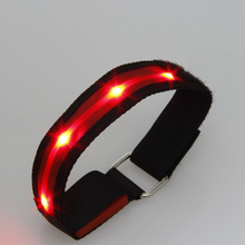 2017 Real Rushed Costume Leds 50pcs/lot Multi-color Flashing Cloth Led Safety Night Arm Wrap Band Armband For Running Out Door
