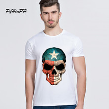 PyHenPH Texas Flag Skull design T-shirt Men High Quality Dead Kamikaze Print Short Sleeve T Shirt Men's Summer Bran Tops Tees