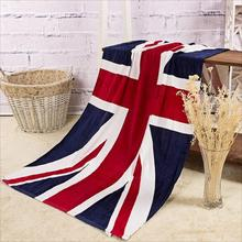 New qualified 70*140cm Absorbent Cotton Bath Beach Towel Drying Washcloth Shower UK national Flag  Levert Dropship dig6623