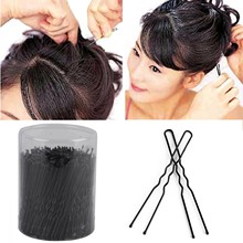 Mayitr 300pcs New U-shaped Hair Clips Black Hair Pins  6cm Clip Hairstylists Styling Tool