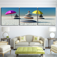 3 Pcs/Set Framed HD Printed Zen Stones Sun Beach Poster Picture Wall Art Print Canvas Painting Cuadros Decoracion Home Decor