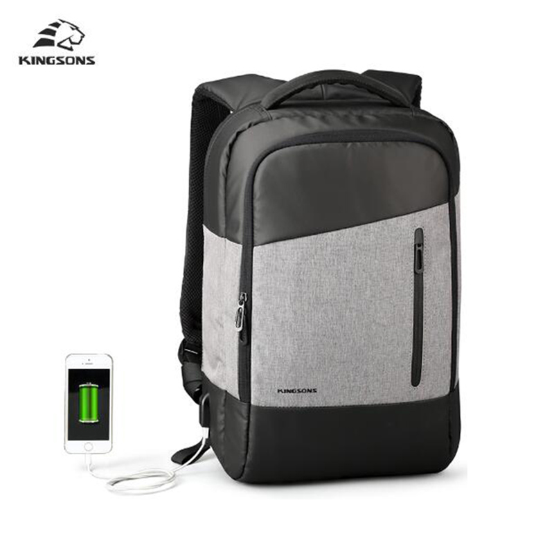 Kingsons Phone Sucking Backpacks Daily Casual Daypacks Travel Backpack Suit For Teenager Business Man Student Backpack<br>