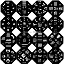 12pcs Fashion Nail Tools Template Nail Stamping Image Plates Art 60 Models for Choose without Stamper(China)