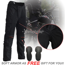 Black Men's Waterproof Motorcycle Pants Armor Jeans Motocross KTM Racing Pants Motorcycle Trousers Knee Protective