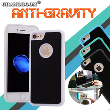 GRANDBOOM Hybrid Magical Anti gravity Nano Suction Cover Phone PC Case for iPhone 7 6 6S Plus SE 5 Samsung S8 S7 S6 Edge Note 5