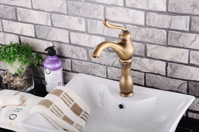 high quality brass material bronze plating single lever high bathroom sink basin faucet basin tap bathroom faucet<br><br>Aliexpress