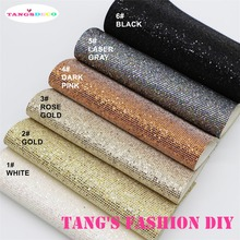 6PCS---High Quality DIY small checked glitter PU leathers/Synthetic leather/DIY fabric 20x22cm per pcs CAN CHOOSE