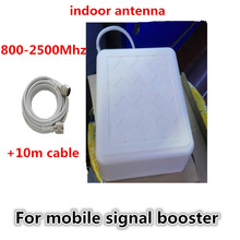 800-2500mhz Wide Frequency GSM 3G Directional Outdoor Panel Antenna + 10m Cable N Male Connector For Cell Phone Signal Booster