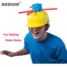2016 NEW Wet To Head Game Wet Hat Water Challenge Roulette Family Games Kid Interesting Practical Jokes Funny Toys