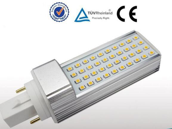 10pcs  8W led plc pl light e27 bulb GX24  pl-l led 120mm 8w with 40pcs SMD2835 AC85-265V from Green Lantern<br><br>Aliexpress