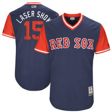 "MLB Men's Boston Red Sox Dustin Pedroia ""Laser Show"" Navy 2017 Players Weekend Authentic Jersey(China)"