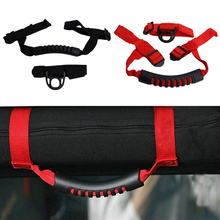 Black / Red Car Seat Roof Board Racing Roll Bar Grab Handles Handgrip Coat Hood For Jeep Wrangler YJ TJ JK JKU 1987-2016 #CE003