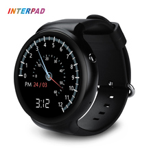 Interpad I4 plus Android iOS Smart Watch 3G WIFI GPS Download App Heart Rate Monitor Weather Sync Phone Notifications Smartwatch