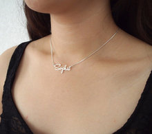 Custom Name necklace personalized necklace 925 Sterling silver jewelry customized necklace(China)