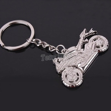 Fashion racing motorbike model keyring free shipping, alloy motorcycle keychain fit for men's gift, promotion, christmas gift