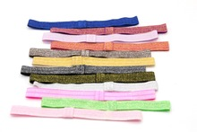 60pcs/lot New Arrival 12 Colors Glitter Headband, Children Headwear, 15mm width Hair Accessory Free shipping