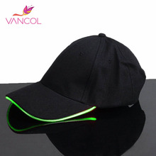 Vancol 10 Color Night Led Cap Hat Light Baseball Gorras Dance Glow In The Dark Hip Hop Fashion Mens Sport Fitted Hat Led Cap