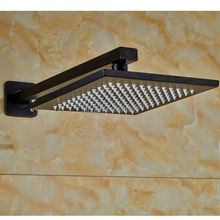 Factory Direct High Quality Bathroom 8 inch Rainfall Top Shower Head With Wall Mounted Waterfall Shower Arm Pure Black Color