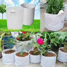 WOFO Non-woven Fabric Pot Plants Pouch Root Container Grow Planter Bag Bio-Degradable Transplant Bag Garden Kit Fabric Grow Pot