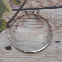 20pcs 25mm (6.8mm Thick) Clear Round Domed Magnifying Glass Cabs Round Glass Cabochon For Inserts Pendant Tray(China)
