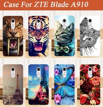 New Painting Luxury Phone case For ZTE Blade A910 a 910  DIY Case Colorful soft tpu Protector Cover For ZTE a910