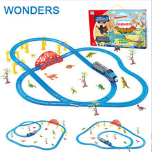 Hot Wheels 45pcs/lot Thomas And Friends rail toys with dinosaur Electric Jurassic Park theme Set Trackmaster kids gift