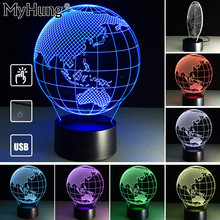 Oceania Map 3D lights Lamp Fanciful Holiday Gifts Romatic 3D Remote Control Lights Lamp Acrylic Visual Room Decor Usb Changer(China)