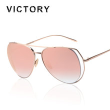 Victorylip New Pilot  Mirror  Women Sunlgasses 2016 Fashion Brand Design Men Lady UV400 Large Frame Sun Glasses Super deal