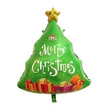 Christmas Tree Foil Balloon Lovely Printed Christmas Mylar Balloon For Merry Christmas Party Decoration