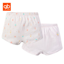 GB Baby Girl 2 Pcs Boxer 100% Cotton Breathable Cute Pink Print Kid Panties Infant Baby Briefs Brand Underwear for 12M-5Y(China)