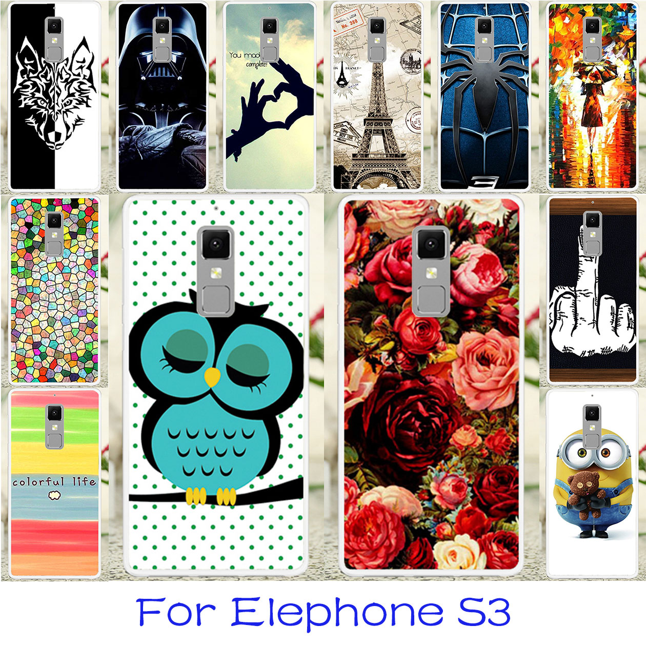 TAOYUNXI Silicon Phone Cases Elephone S3 5.2 Inch Bag Covers Flexible Back Coque Elephone S3 Housing Cover Skin Case