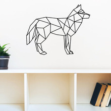Geometric Dog Wall Stickers Home Decor Living Room Animal Wall Decals Vinyl Art Stickers Creative Wall Decoration Accessories