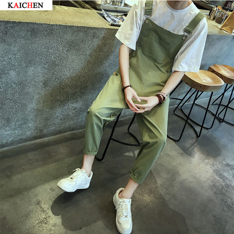 New 2017 Summer ArmyGreen men Overalls Europe and America Bib suspenders pants mens trousers solid color Rompers tideОдежда и ак�е��уары<br><br><br>Aliexpress