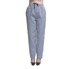 New Arrival Chef Uniform Restaurant Pants Kitchen Trouser Chef Pants Elastic Waist Bottoms Food Service Pants Women Work Wear