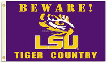 LSU Tigers Feet Country Flag with Grommets 3' x 5' Banner brass metal holes Flag(China)