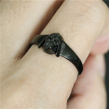 Size 7-11 Black Color Mini Star War Ring 316L Stainless Steel Jewelry Cool Design Women Ladies Star War Ring