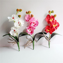 2pcs Phalaenopsis Orchid Silk Real Touch Flower White Artificial Flower Wedding Flower Orchid Floral Christmas Party D7