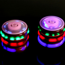 Creative Rotate Spinner Music Gyro LED Colorful Flash Light Peg Top Kids Toy(China)