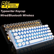 RK61 Typewriter  61 Key Dual-Mode Bluetooth Wireless/Wired Backlit Mechanical Keyboard Detacheable Cable Longhua/Cherry Switches