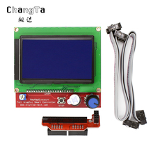 CHANGTA 12864 LCD Ramps Smart Parts RAMPS 1.4 Controller Display Monitor Motherboard Blue Screen for 3D printer free shipping